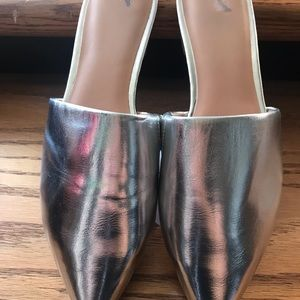 A New Day Silver Slide Mules